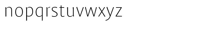 FF Profile Extra Light Font LOWERCASE