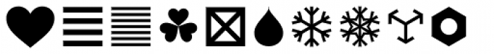 FF Dingbats 2 Mixed Form Font LOWERCASE