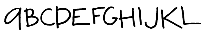FG Adam Regular Font UPPERCASE
