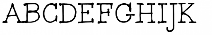 FG Typical Font UPPERCASE