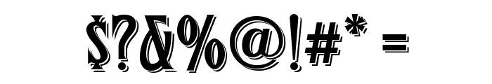 FHACondensedFrenchShadedNC Font OTHER CHARS