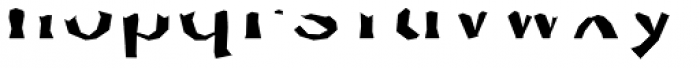 FHA Broken Gothic Busted AA Font LOWERCASE