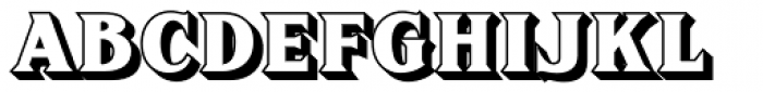 FHA Sign DeVinne Shaded Font UPPERCASE