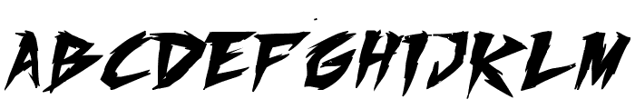 Fighting Spirit TBS Bold Font UPPERCASE