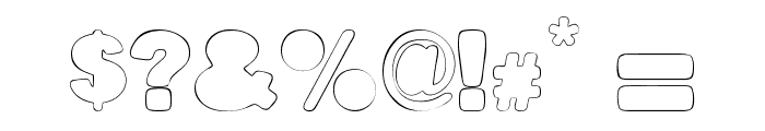 Fine Homage Font OTHER CHARS