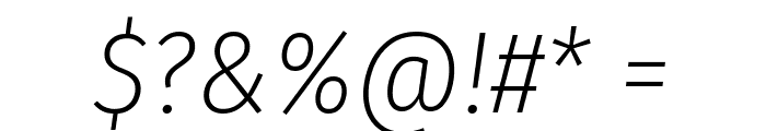 Fira Sans Condensed ExtraLight Italic Font OTHER CHARS