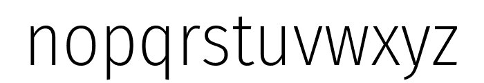 Fira Sans Condensed ExtraLight Font LOWERCASE