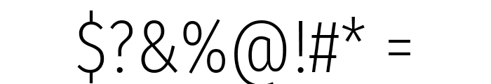 Fira Sans Extra Condensed ExtraLight Font OTHER CHARS