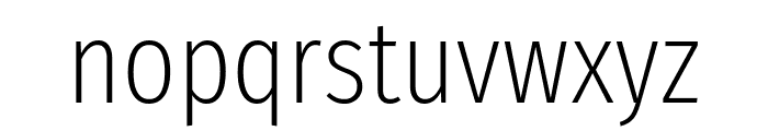 Fira Sans Extra Condensed ExtraLight Font LOWERCASE