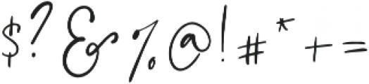 FloralTheory Regular otf (400) Font OTHER CHARS