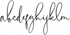FloralTheory Regular otf (400) Font LOWERCASE