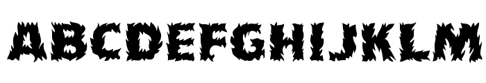 Flames Font LOWERCASE