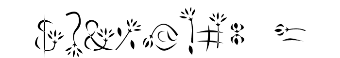 flower3 Font OTHER CHARS