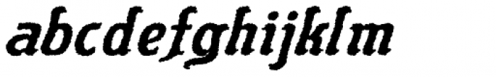Flinscher Weathered Bold Italic Font LOWERCASE