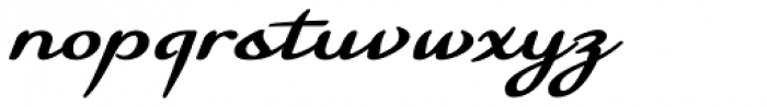 Florencia Bold Font LOWERCASE