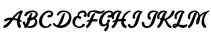 Fondy Script PERSONAL USE ONLY Font UPPERCASE