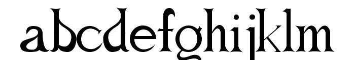 Forget Me Knot Roman Font LOWERCASE