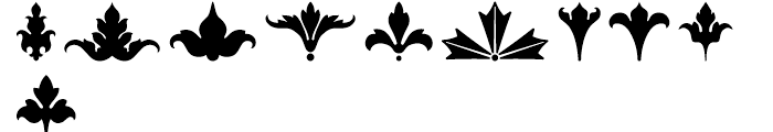 Foliage Ornaments Font OTHER CHARS