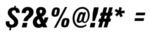 Foundation Sans Black Condensed Italic Font OTHER CHARS