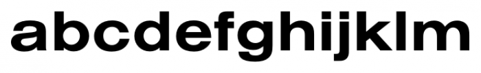 Foundation Sans Bold Extended Font LOWERCASE