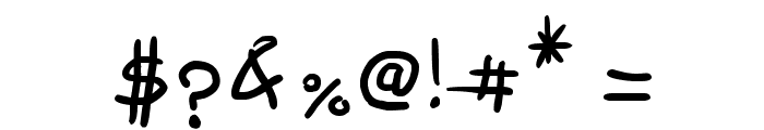 Freehand Written Font OTHER CHARS