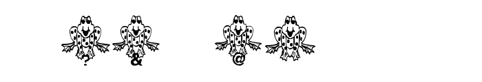 Frogii's Froggy Font OTHER CHARS