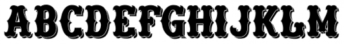 Freibeuter NR High smooth shadow Font UPPERCASE