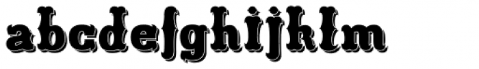 Freibeuter NR High smooth shadow Font LOWERCASE