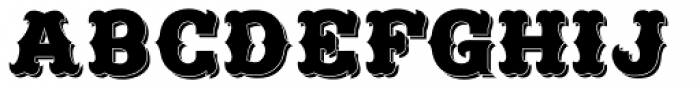 Freibeuter NR Smooth Shadow Font UPPERCASE
