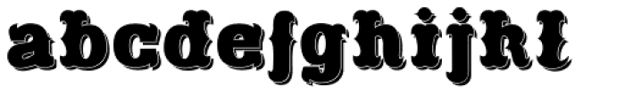 Freibeuter NR Smooth Shadow Font LOWERCASE