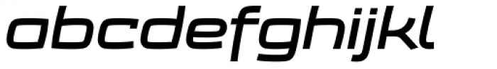Frio Extended Bold Italic Font LOWERCASE