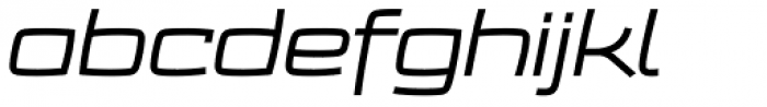 Frio Extended Italic Font LOWERCASE