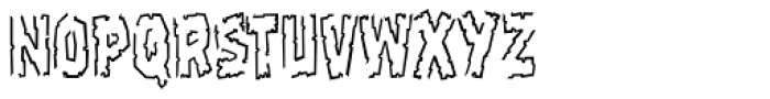 Frostbite Chip Font LOWERCASE