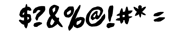 Full Bleed BB Font OTHER CHARS