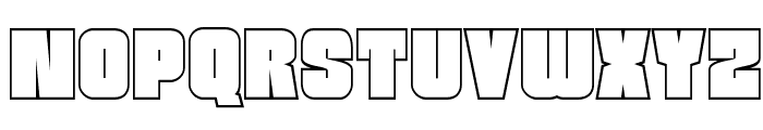 Funk Machine Outline Font UPPERCASE