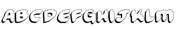 Funny Pages Shadow Font LOWERCASE