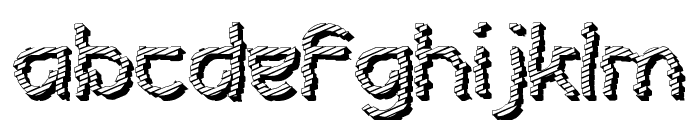 Futurex Roughly Sliced Font LOWERCASE