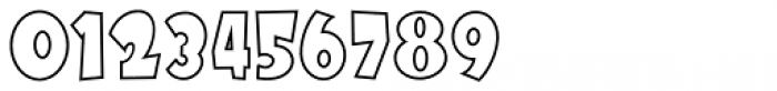 Futurino Outline Font OTHER CHARS