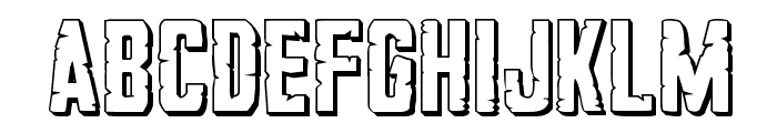 G.I. Incognito 3D Regular Font LOWERCASE