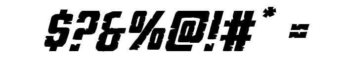 G.I. Incognito Expanded Italic Font OTHER CHARS