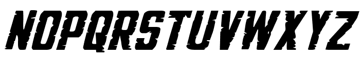 G.I. Incognito Expanded Italic Font UPPERCASE