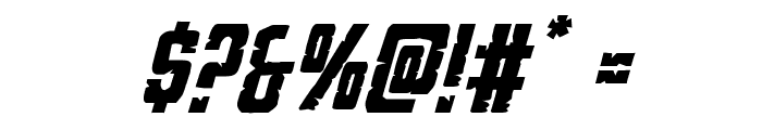 G.I. Incognito Italic Font OTHER CHARS