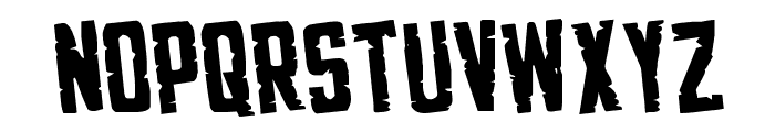 G.I. Incognito Rotated Regular Font LOWERCASE