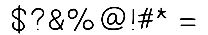 GAELLEnumber8 Font OTHER CHARS