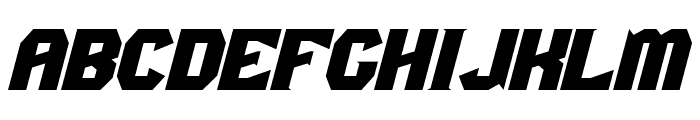 Gaiking Extended Italic Font UPPERCASE