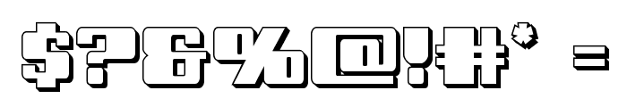 Galactic Storm 3D Font OTHER CHARS