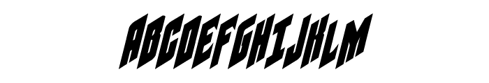 Galaxy Force Condensed Italic Font UPPERCASE