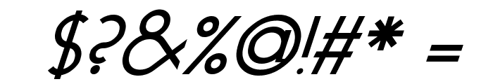 Geo Italic Font OTHER CHARS