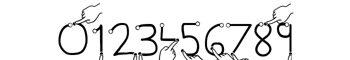 Gesture Hand Font OTHER CHARS