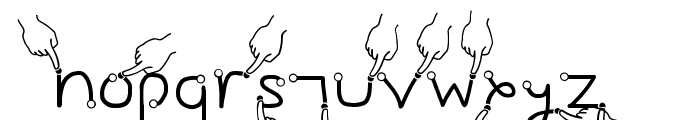 Gesture Hand Font LOWERCASE